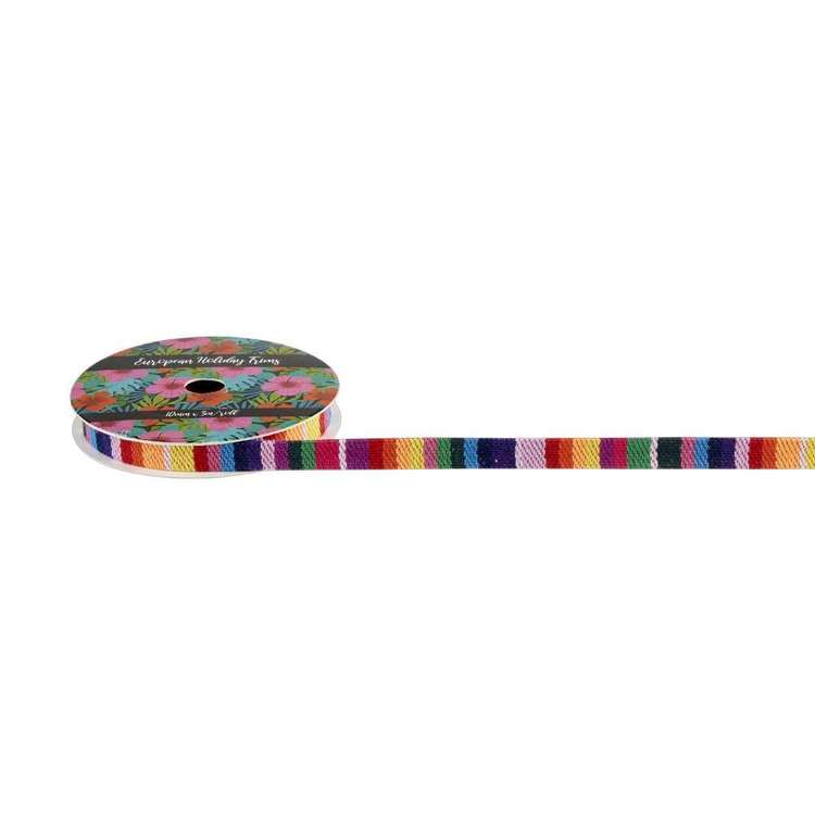 European Holiday Rainbow Flat Braid