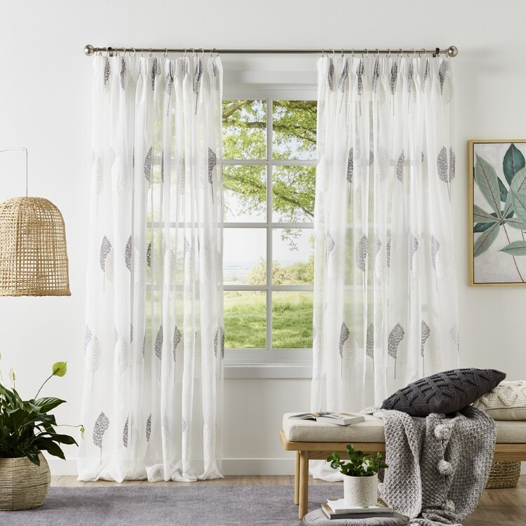 KOO Harrison Sheer Pencil Pleat Curtains