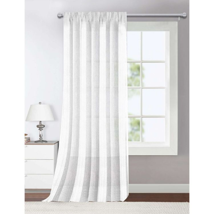 KOO Georgia Pencil Pleat Sheer Curtain