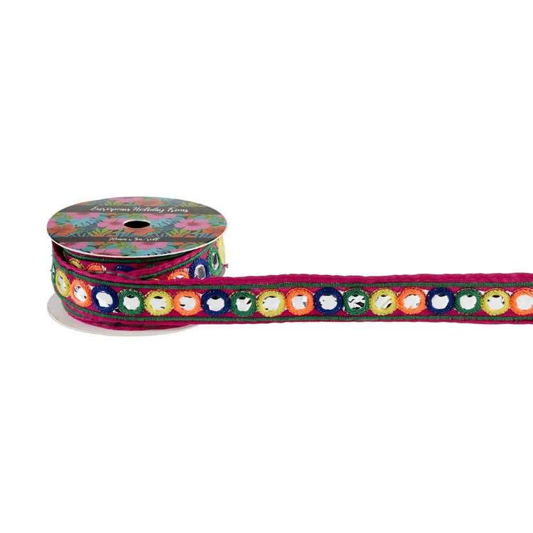 European Holiday Circle Mirrors Braid Multicoloured