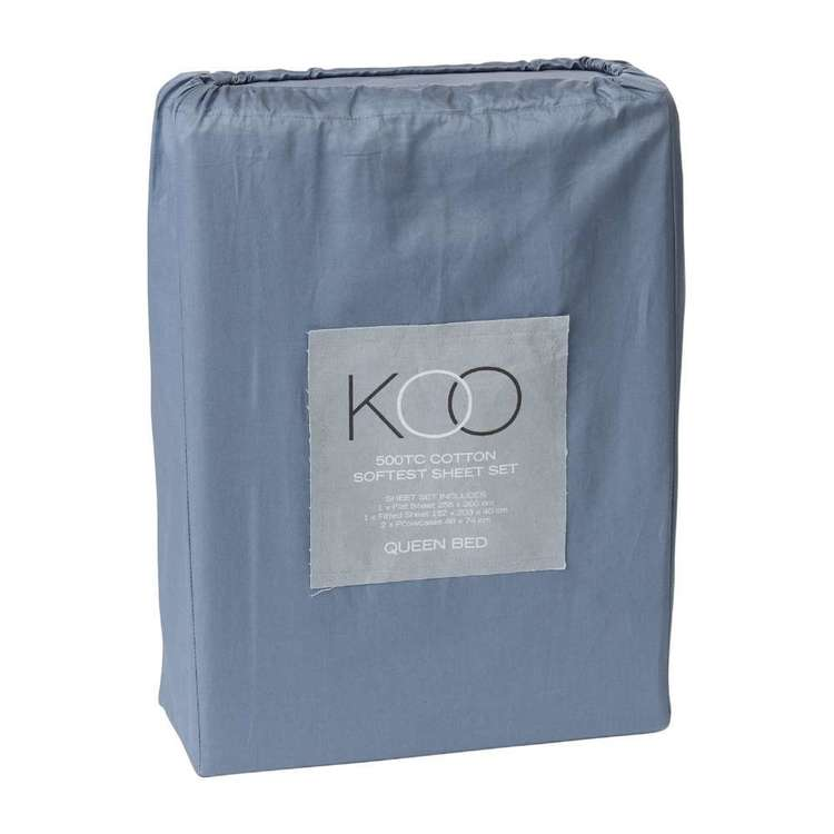 KOO 500 Thread Count Cotton Softest Sheet Set
