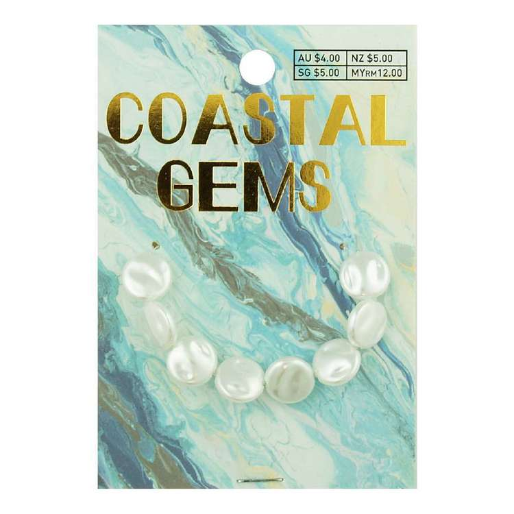 Coastal Plastic Tex Pearl Beads 8 Pack
