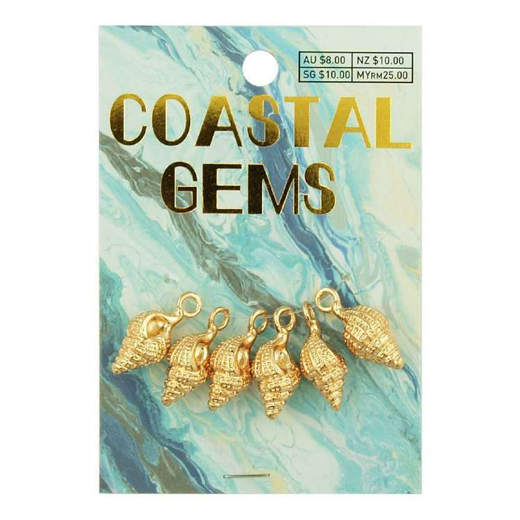 Coastal Conch Shell Charms 6 Pack
