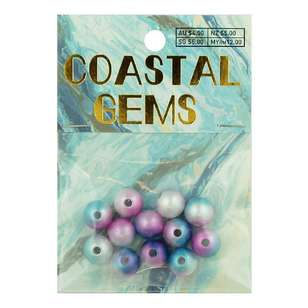 Coastal Acrylic Pearls 12 Pack