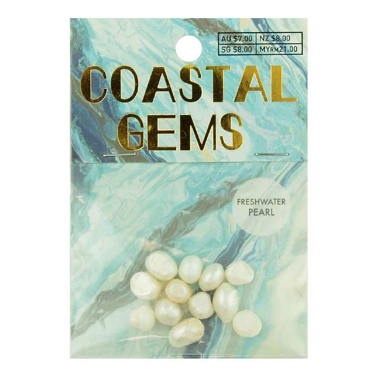 Coastal Freshwater Pearls 12 Pack White 10 mm