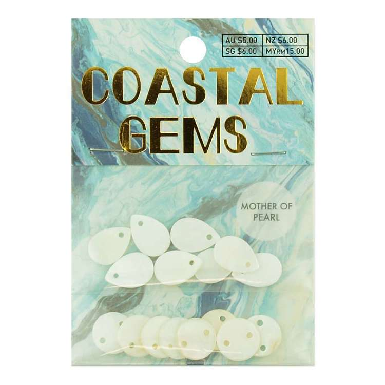 Coastal Mother Of Pearl Disc Mix 16 Pack White