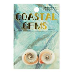 Coastal Round Shell 2 Pack