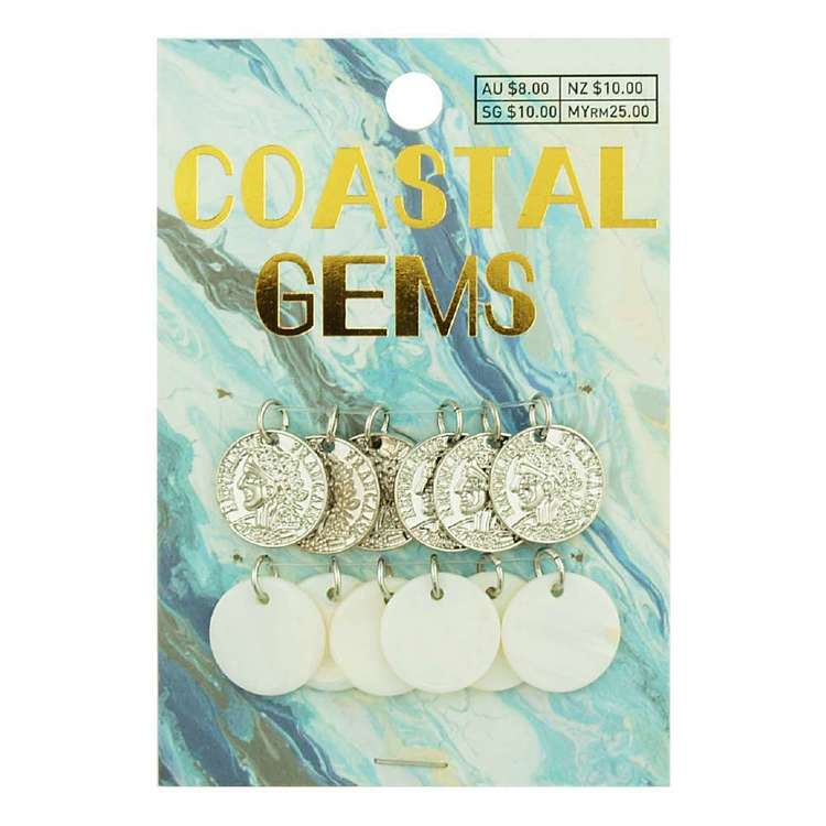 Coastal Metallic Shell Discs 12 Pack