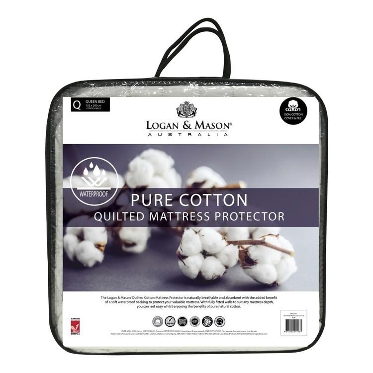 Logan & Mason Waterproof Cotton Mattress Protector