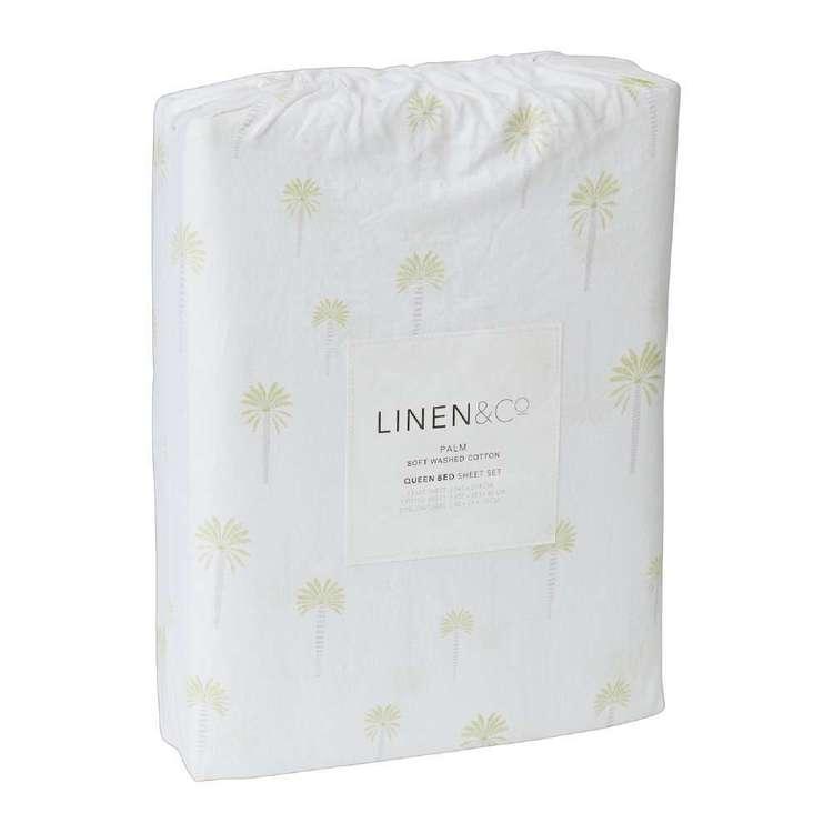 Linen & Co Palm Cotton Sheet Set