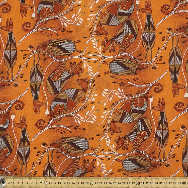 Australiana Indigenous Isaiah Possum Cotton Fabric