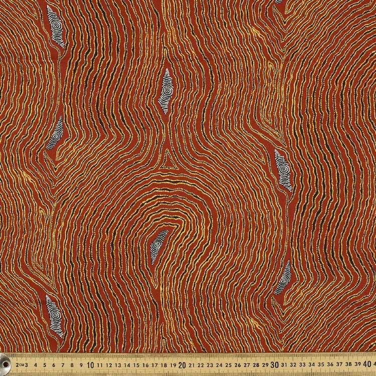 Australiana Indigenous Maureen Waterholes & Dunes Cotton Fabric