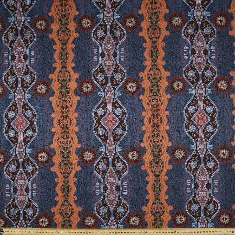 Australiana Indigenous Maureen Firewater Dreaming Cotton Fabric