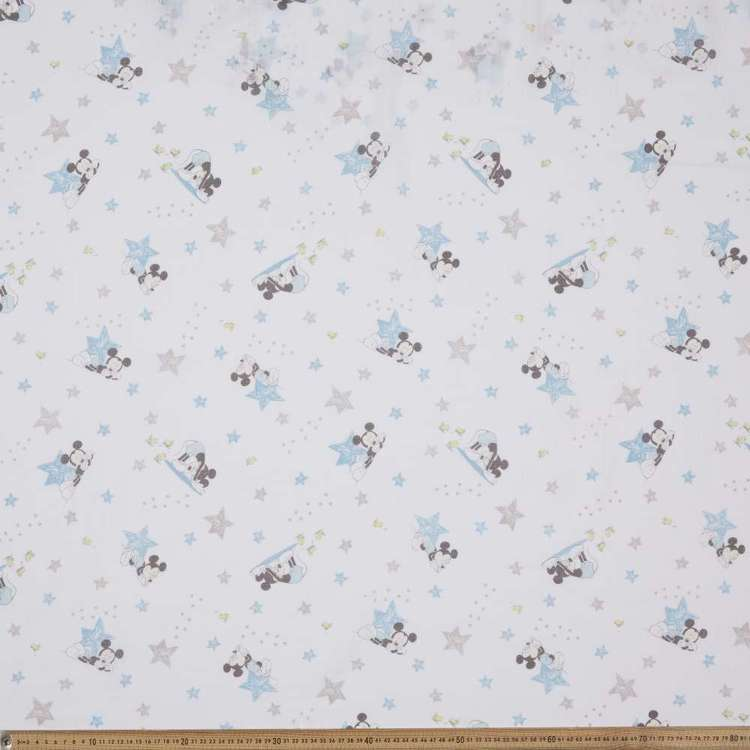 Mickey Mouse Double Muslin Fabric
