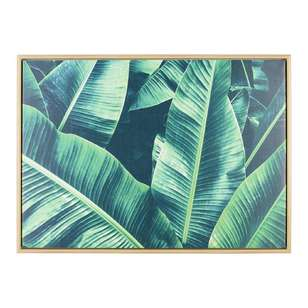 Ombre Home Mediterranean Summer Banana Leaf Framed Canvas