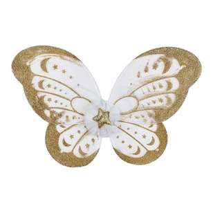 Be Yourself Gold Glitter Wings