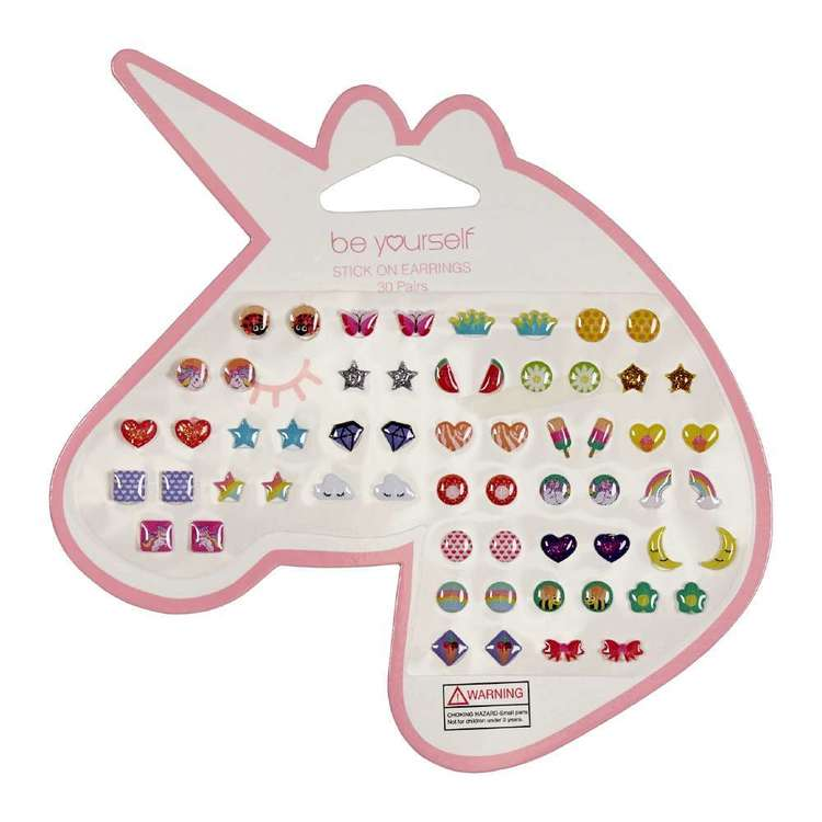Be Yourself Stick On Earrings 30 Pack