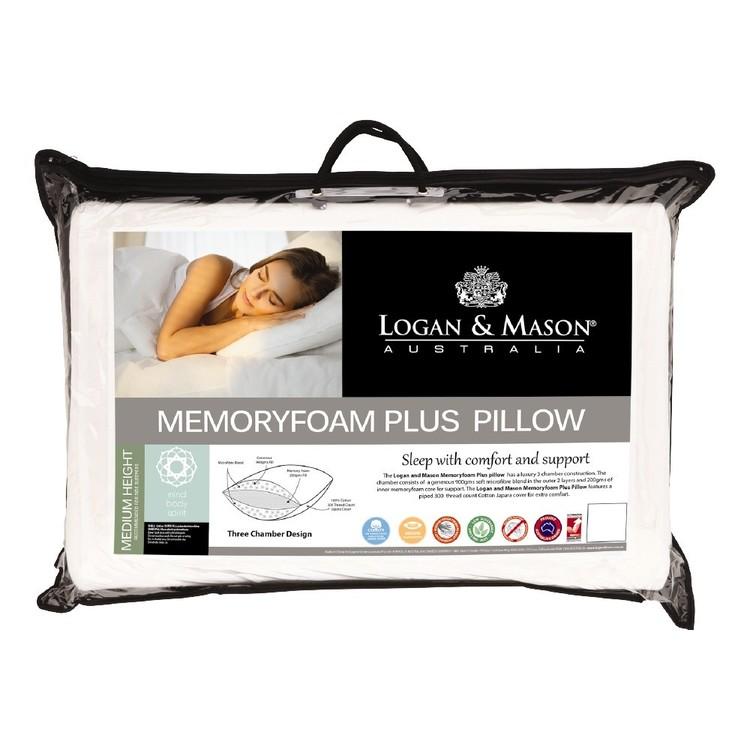 Logan & Mason Memory Foam Plus Pillow