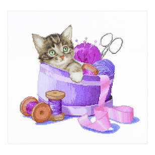 Thea Gouverneur Basket Kittens Cross Stitch Kit