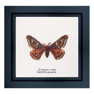Thea Gouverneur Emperor Moth Cross Stitch Kit