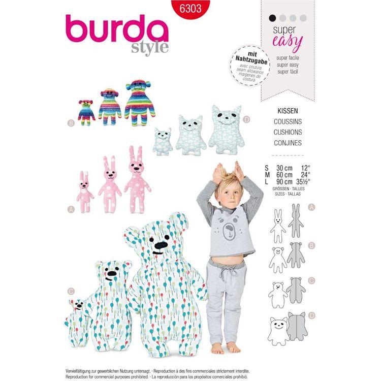 Burda Style Pattern 6303 Motif Pillows