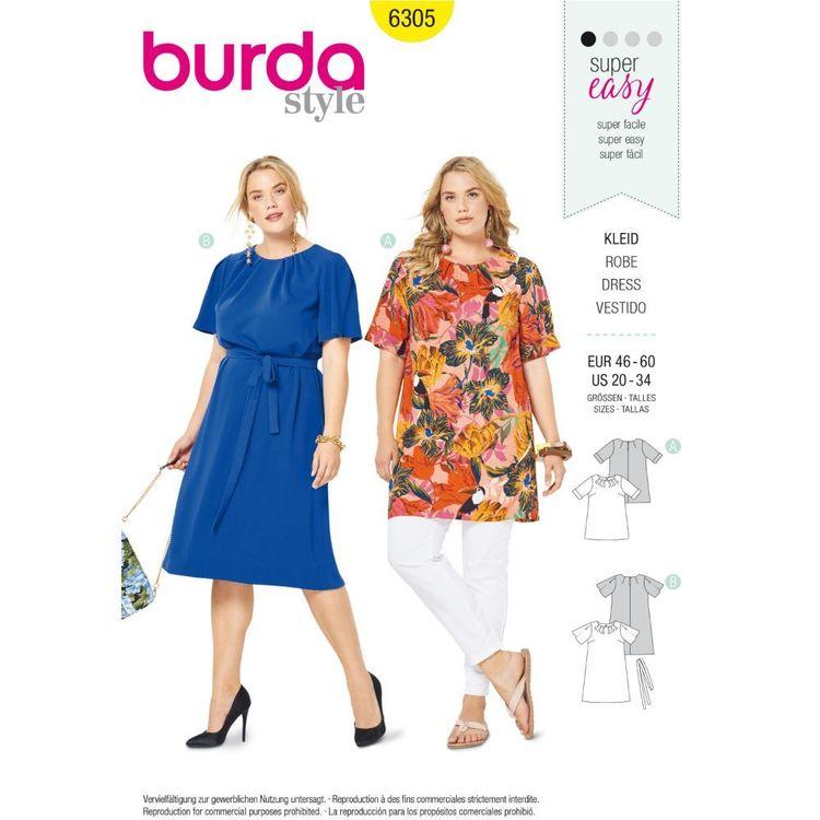 Burda Style Pattern 6305 Women's Top and Dress