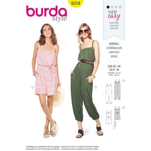 Burda Style Pattern 6318 Misses' Jumpsuit