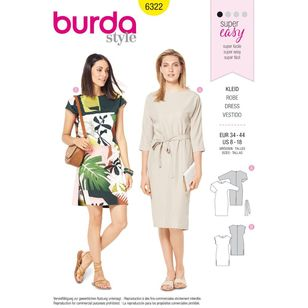 Burda Style Pattern 6322 Misses' Dress