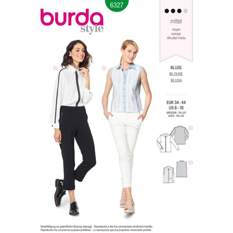 Burda Style Pattern 6327 Misses' Shirt