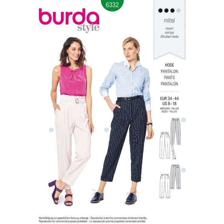 Burda Style Pattern 6332 Misses' High waisted Pants