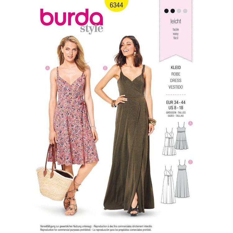 Burda Style Pattern 6344 Misses' Wrap Dress