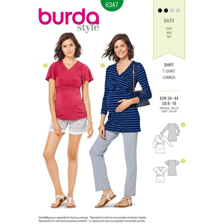Burda Style Pattern 6347 Misses' Maternity Top