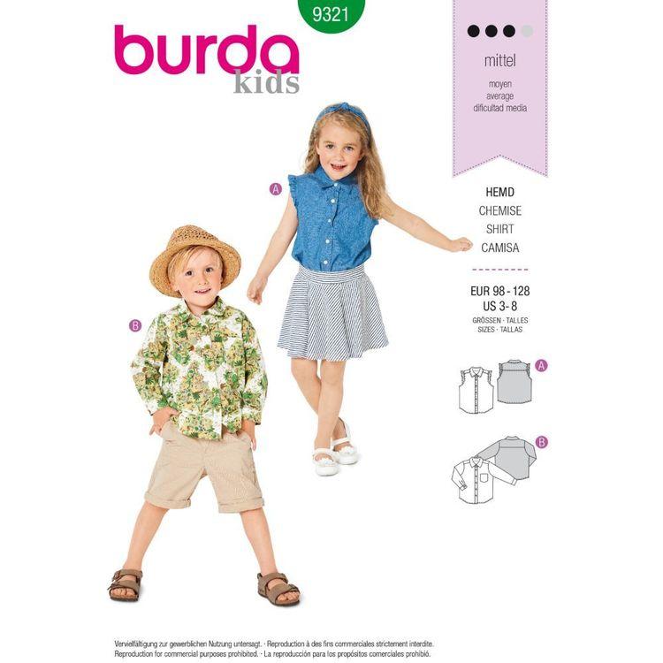 Burda Style Pattern 9321 Children's Sleeveless Top