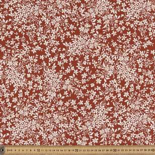 Rusty Foliage Printed Rayon Fabric