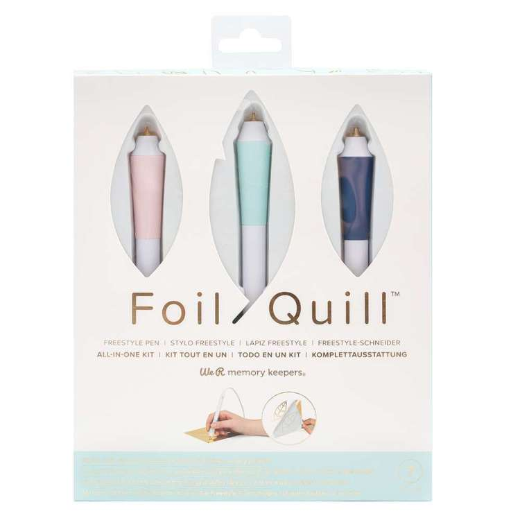 We R Memory Keepers Foil Quill Free Style Pen All In One Kit Multicoloured