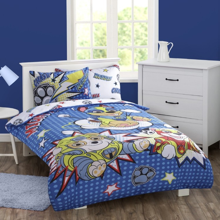 Paw Patrol Blue Mighty Pups Quilt Cover Set Blue