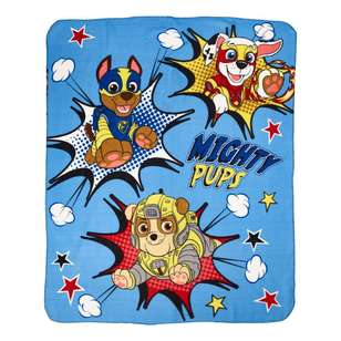 Paw Patrol Boy Mighty Pups Throw