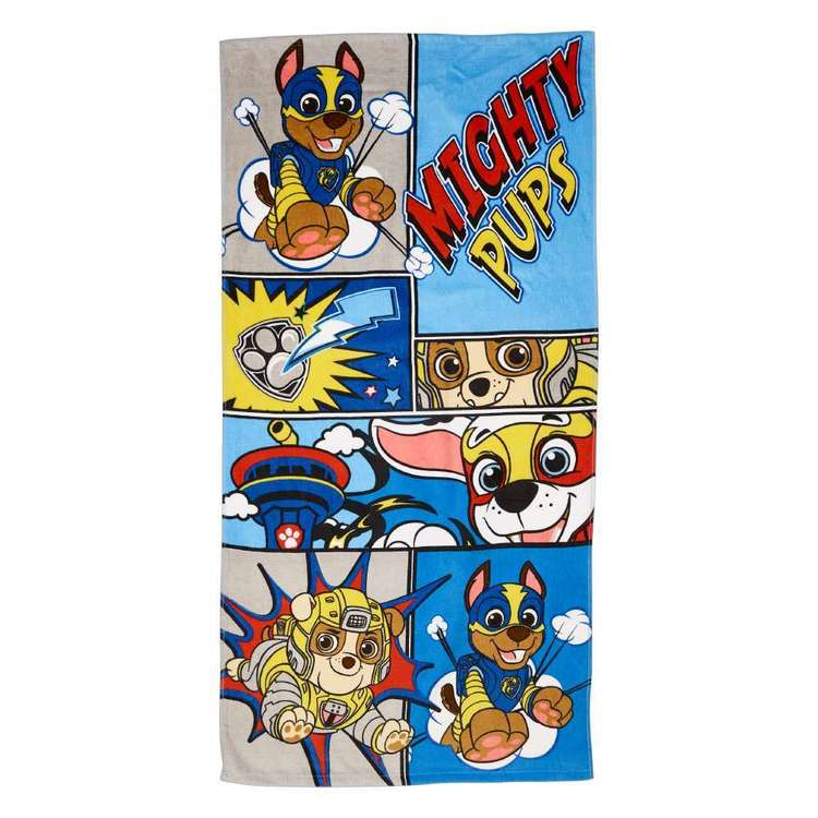 Paw Patrol Boy Mighty Pups Towel Blue