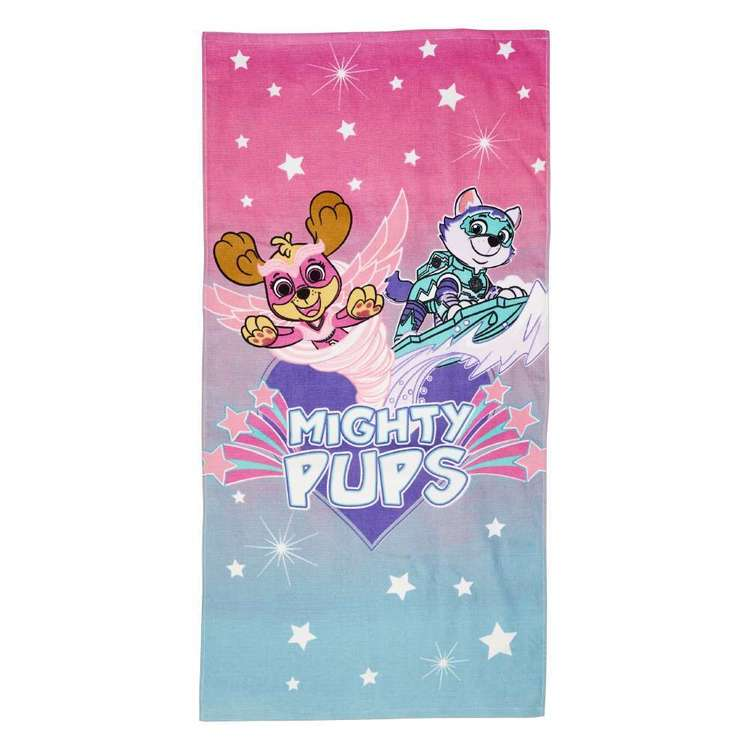 Paw Patrol Girl Mighty Pups Towel