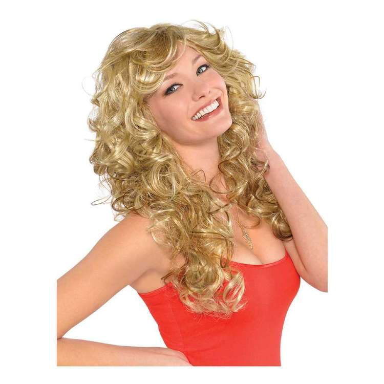 Amscan 80s Blonde Bombshell Wig Yellow & Red