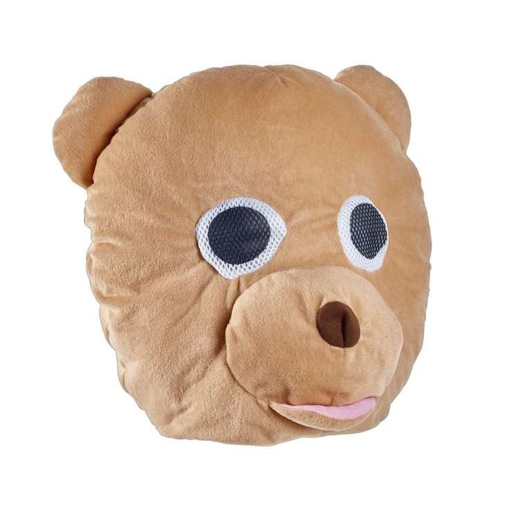Party Creator Plush Bear Head Mask Brown