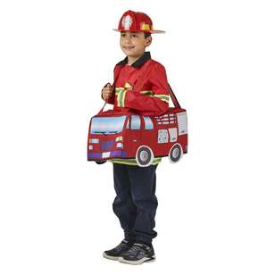 Spartys Ride On Fire Truck Kids Costume