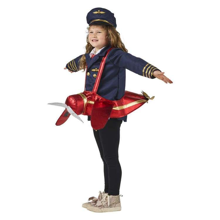 Spartys Ride On Aeroplane Kids Costume Red Child