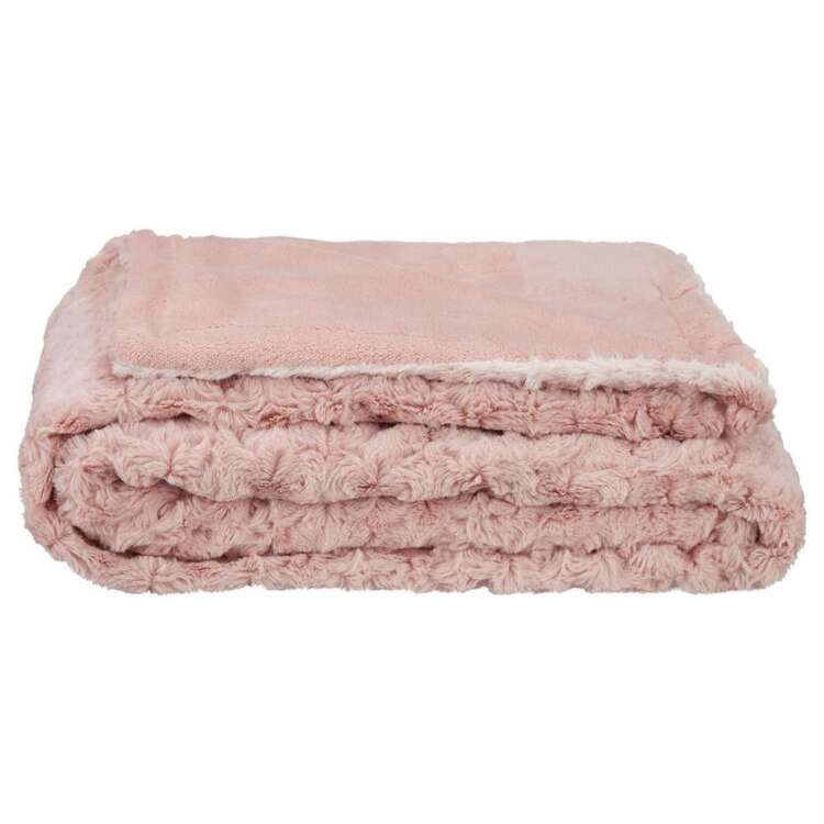 Bouclair Ballade Rose Throw Pink
