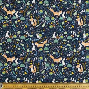 Forest Friends Printed Flannelette Fabric