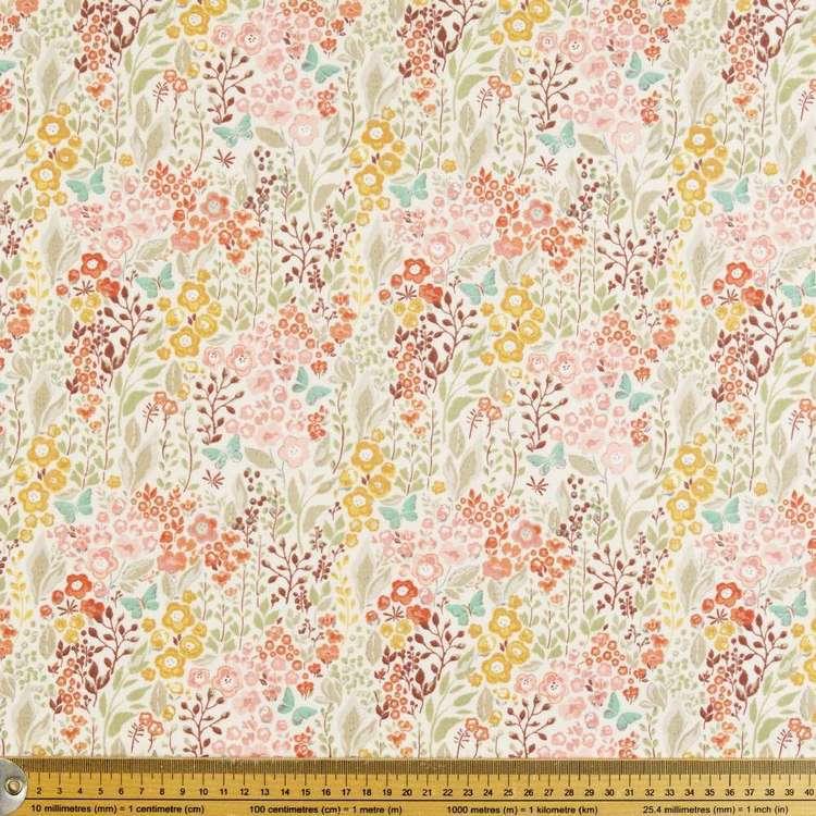 Wild Flowers Printed Flannelette Fabric