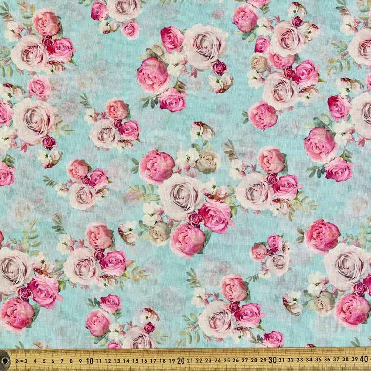 Rosetta Digital Printed 148 cm Cotton Linen Fabric