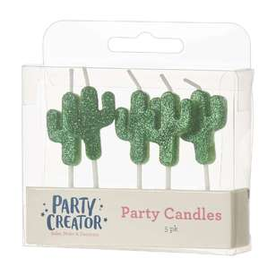 Party Creator Cactus Party Candles 5 Pack
