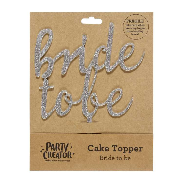Party Creator Bride Cake Topper Silver