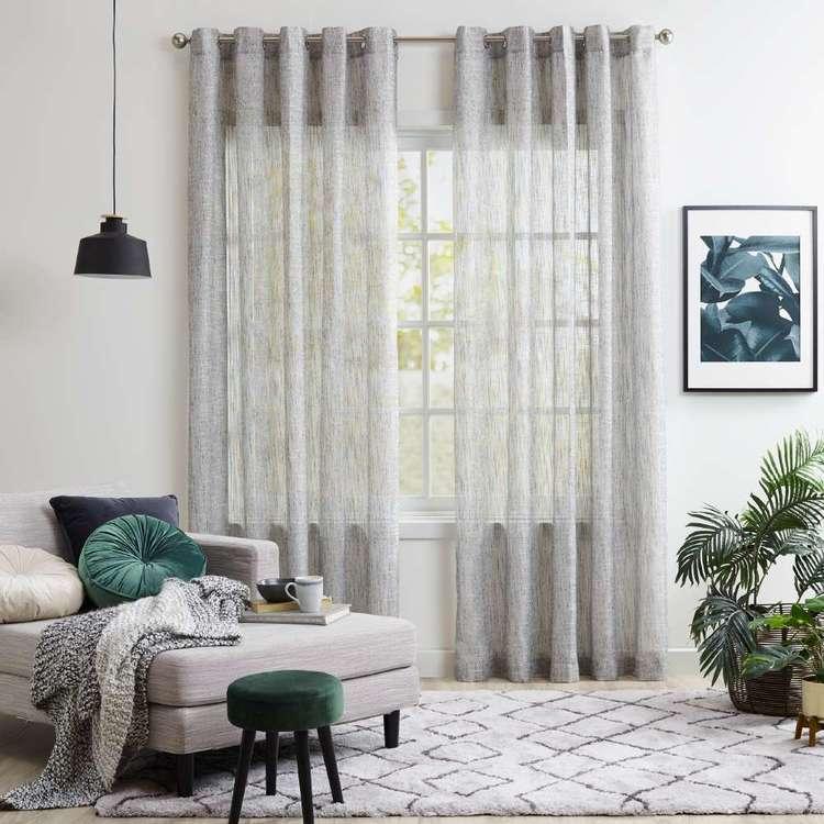KOO Reed Sheer Eyelet Curtains